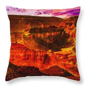 Afterglow Grand Canyon National Park Throw Pillow