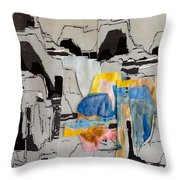 Afterimage - Palo Duro Canyon - Number Twelve Throw Pillow