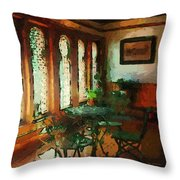 Afternoon At Le Cafe Des Vignes Throw Pillow