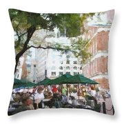 Afternoon At Faneuil Hall Throw Pillow by Jeff Kolker