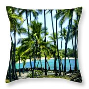 Afternoon At Kakaha Kai Throw Pillow