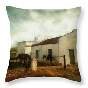 Afternoon At Lone Tree Ranch Throw Pillow