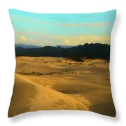 Afternoon At Oregon Dunes Throw Pillow
