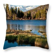 Afternoon At Sprague Lake Throw Pillow
