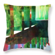 Afternoon At The Office Throw Pillow