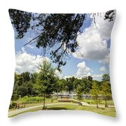 Afternoon At The Park Throw Pillow