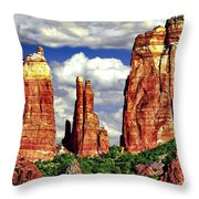 Afternoon Cathedral Rocks Saddle View Red Rock State Park Sedona Arizona Throw Pillow