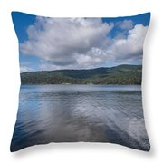 Afternoon Clouds Over Big Lagoon Throw Pillow