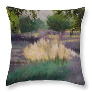 Afternoon  Grasses Throw Pillow