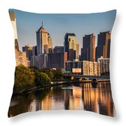 Afternoon In Philly Throw Pillow