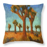 Afternoon Light At Joshua Tree Throw Pillow