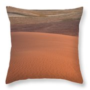Afternoon Light On The Dune In Wadi Rum Throw Pillow