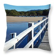 Afternoon On Back Creek Throw Pillow