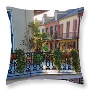 Afternoon On The Balcony Throw Pillow
