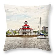 Afternoon On The Water - Hdr Throw Pillow