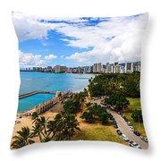 Afternoon On Waikiki Throw Pillow