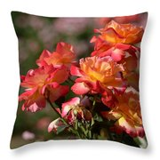 Afternoon Roses Throw Pillow