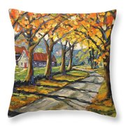 Afternoon Shadows By Prankearts Throw Pillow