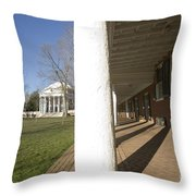 Afternoon Shadows Spread Across The Dorms Rooms Along The Lawn Throw Pillow