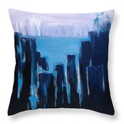Afternoon Skyline Throw Pillow