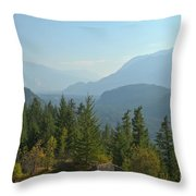 Afternoon Smoke At The Tantalus Mountains Throw Pillow