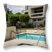 Afternoon Swim Palm Springs Throw Pillow