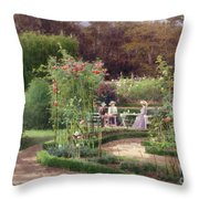 Afternoon Tea By The Laurel Arch Throw Pillow