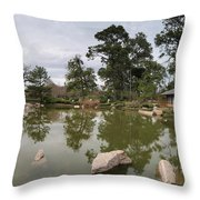 Afternoon Tea House Color Throw Pillow