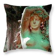 Afton Plantation Garden Statuary  Throw Pillow
