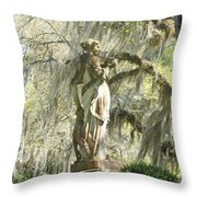 Afton Plantation Villa Statuary Throw Pillow