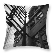 Against All Angles  Throw Pillow