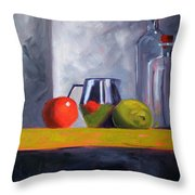 Against Giants Throw Pillow by Nancy Merkle