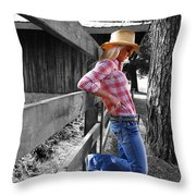 Against The Fence Throw Pillow