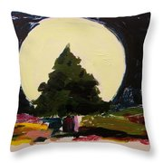 Against The Moon Throw Pillow