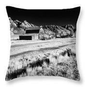 Against The Mountains Throw Pillow