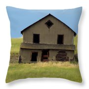 Against The Wind Abandoned Homestead Throw Pillow