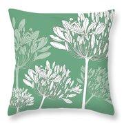 Agapanthus Breeze Throw Pillow