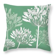 Agapanthus Breeze Throw Pillow