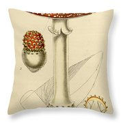 Agaricus Mushroom By Sowerby Throw Pillow by Philip Ralley