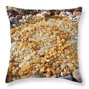 Agate Rock Garden Art Prints Coastal Beach Throw Pillow by Baslee Troutman