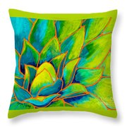 Agave Glow Throw Pillow