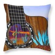 Agave Guitar Throw Pillow
