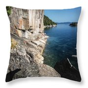Agawa Pictographs Throw Pillow