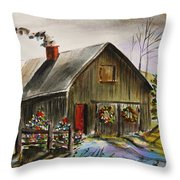 Aged And Decorated Throw Pillow