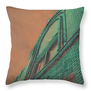 Aged Copper Theater Throw Pillow