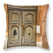 Aged Door In Provence Throw Pillow