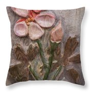 Aged Pink Beauty Throw Pillow