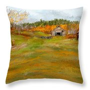 Aged With Character-farm Life Throw Pillow