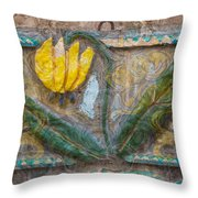 Aged Yellow Brilliance Throw Pillow