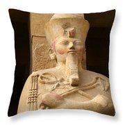 Ageless Egyptian Queen Throw Pillow by Brenda Kean